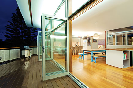 A model of our bi fold doors in Newcastle